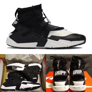 Nike AIR HUARACHE GRIPP BLACK WHITE NWT 13